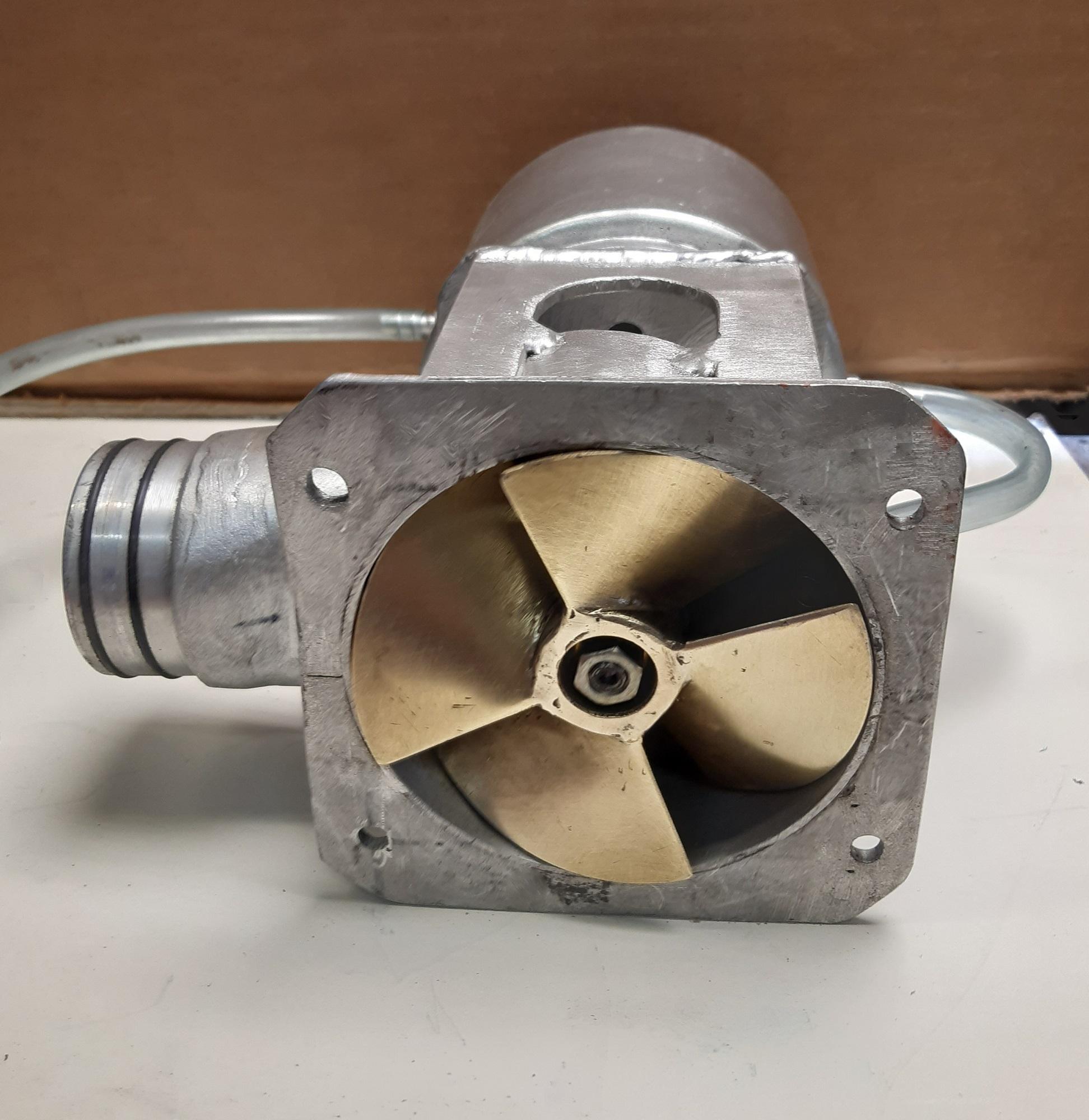 Pędnik od strony turbiny fi 105 mm.